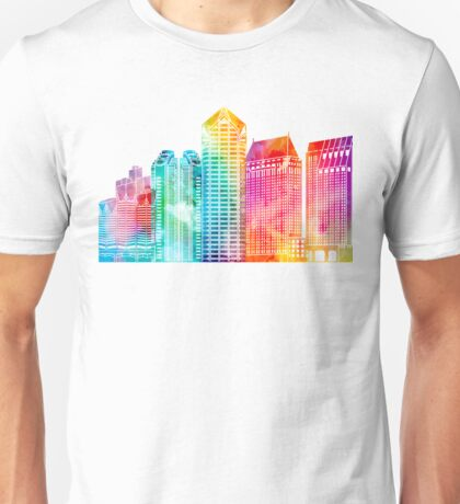 San Diego landmarks watercolor poster Unisex T-Shirt
