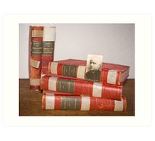 Vintage poetry books Guido Gezelle Art Print