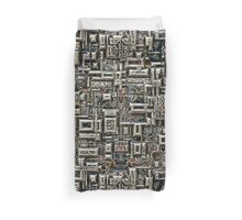 Abstract Metallic Structure Duvet Cover