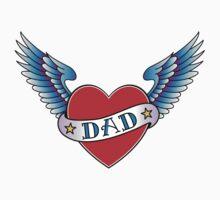 Classic Dad tattoo design Kids Clothes