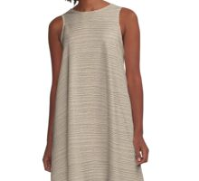 Frosted Almond Wood Grain Texture Color Accent A-Line Dress