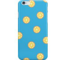 Orange Slices Pattern in Blue iPhone Case/Skin