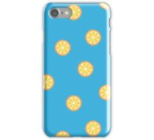 Orange Slices Pattern in Blue iPhone Case/Skin