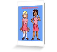 "Ymir and Historia ""But I'm a Cheerleader"" Greeting Card"
