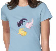 Axolotl Pattern Womens Fitted T-Shirt