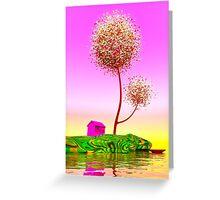 Colorful island. Greeting Card