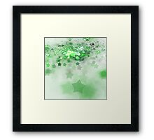Green Stars - Abstract Fractal Artwork Framed Print