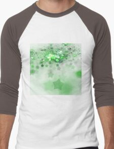 Green Stars - Abstract Fractal Artwork Men's Baseball ¾ T-Shirt