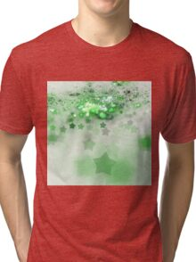 Green Stars - Abstract Fractal Artwork Tri-blend T-Shirt