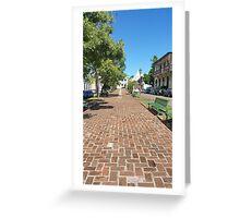 San German Plaza Puerto Rico Greeting Card