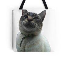 Casper the Cross Eyed Cat Tote Bag