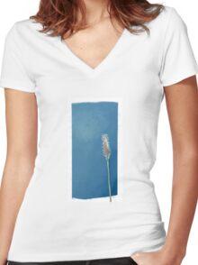 Plantain Flower Women's Fitted V-Neck T-Shirt
