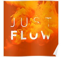 JUST FLOW Yellow Poster