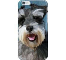 Miniature Schnauzer Water Color Art Painting iPhone Case/Skin