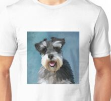 Miniature Schnauzer Dog Water Color Art Painting Unisex T-Shirt