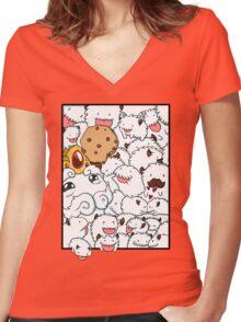 Poros, POROS everywhere Women's Fitted V-Neck T-Shirt