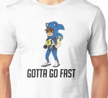 Tracer Overwatch Sonic Gotta go fast with text Unisex T-Shirt