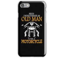 oldman with motor cycle iPhone Case/Skin