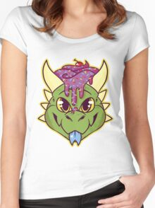 Cupcake Dragon Women's Fitted Scoop T-Shirt