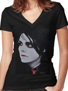 Revenge Era Gerard Way Women's Fitted V-Neck T-Shirt