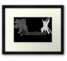 Xenoblade - bionis and mechonis Framed Print