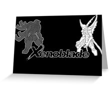 Xenoblade - bionis and mechonis Greeting Card
