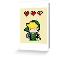 Link Pixel Love Greeting Card