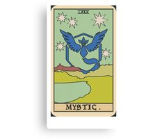 Pokémon Go Team Mystic Tarot Card Canvas Print
