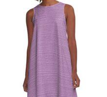 Violet Tulle Wood Grain Texture Color Accent A-Line Dress