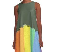 Paint Lines A-Line Dress