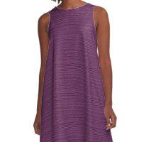 Wood Violet Wood Grain Texture Color Accent A-Line Dress