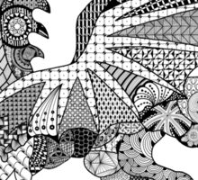 Welsh Dragon Zentangle Sticker