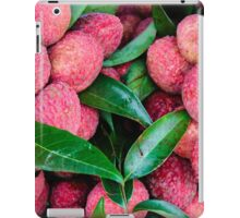 Close-up of red fresh Lychee fruits in Thailand market iPad Case/Skin