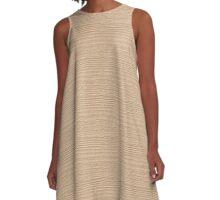 Apricot Illusion Wood Grain Texture Color Accent A-Line Dress