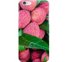 Close-up of red fresh Lychee fruits in Thailand market iPhone Case/Skin