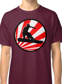 snowboard red rays Classic T-Shirt