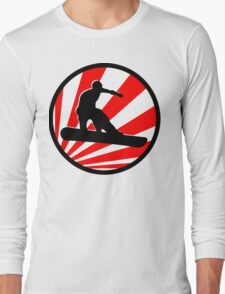 snowboard red rays Long Sleeve T-Shirt