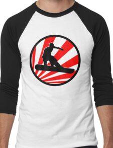 snowboard red rays Men's Baseball ¾ T-Shirt