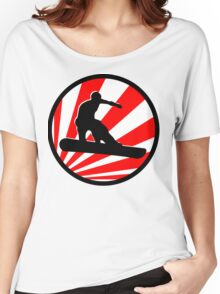 snowboard red rays Women's Relaxed Fit T-Shirt