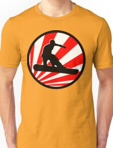 snowboard red rays Unisex T-Shirt