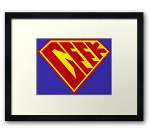Geek Power Framed Print