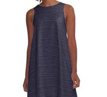 Eclipse Wood Grain Texture Color Accent A-Line Dress