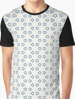 Acrylic Blue Triangular Circles Graphic T-Shirt