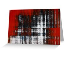 Richter Style Scrapings Greeting Card