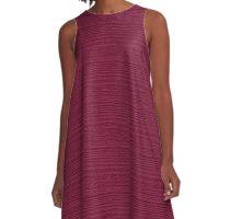 Anemone Wood Grain Texture Color Accent A-Line Dress