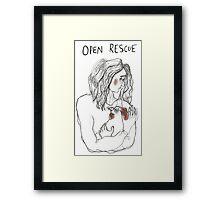 Open Rescue Framed Print