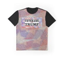 VETERANS for TRUMP with flag background Graphic T-Shirt