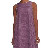 Grape Nectar Wood Grain Texture Color Accent A-Line Dress