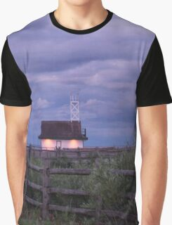 Leuty Lifeguard Station at Summer Dusk Graphic T-Shirt