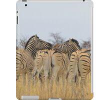 Zebra - African Wildlife Background - Feel the love  iPad Case/Skin